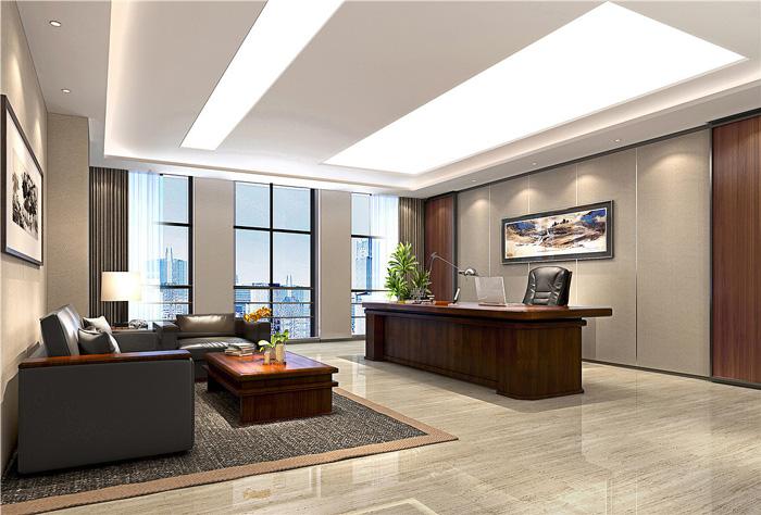 写字楼总经理办公室装修设计效果图