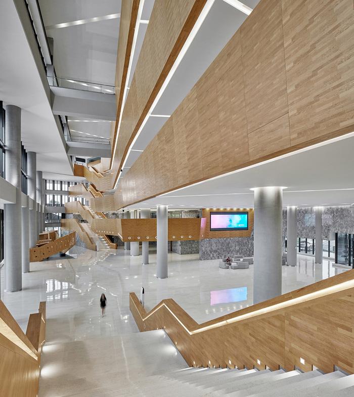 办公楼中庭装修设计效果图