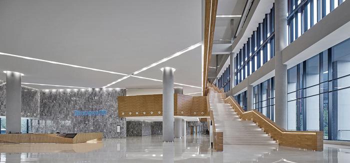 办公楼入口大堂装修设计效果图