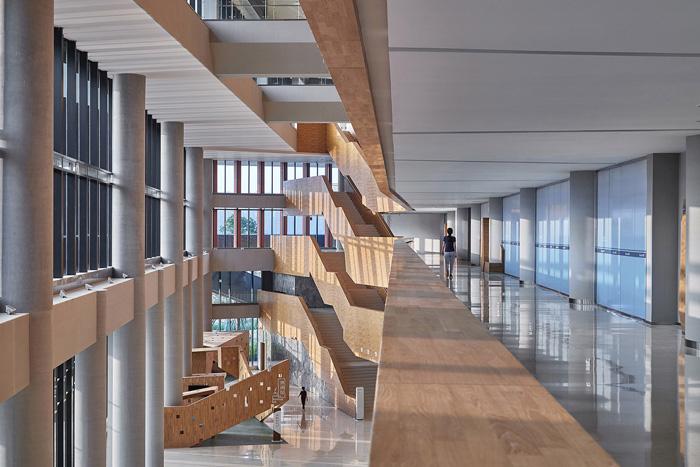 办公楼二楼过道装修设计效果图