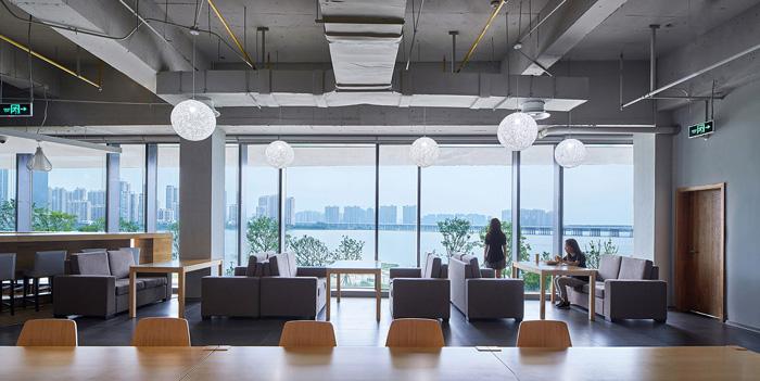 办公楼休闲区装修设计效果图