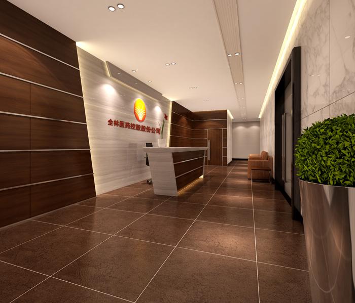 中式摩登办公室装修设计效果图