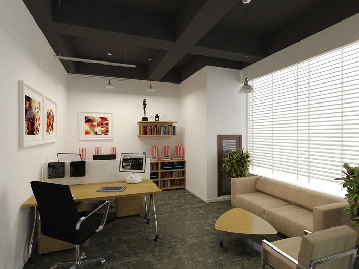 创业园总经理办公室装修设计效果图