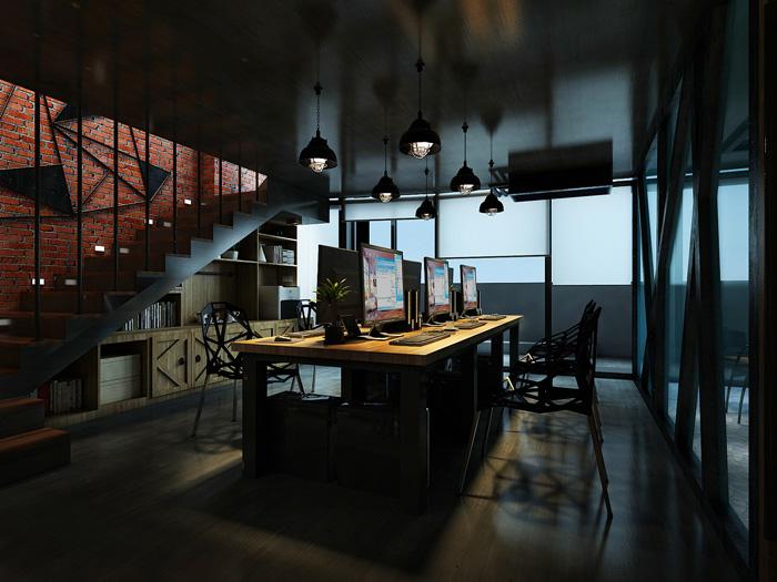 办公室装修设计效果图讲解到此结束,设计师在办公室设计中,以loft风格