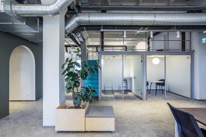 工业阁楼loft办公室装修设计效果图