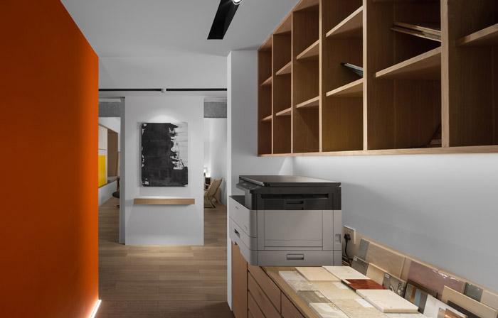 家庭式办公室打印区装修设计效果图
