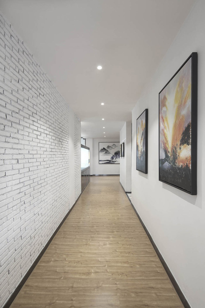 厂房办公室走廊设计装修效果图