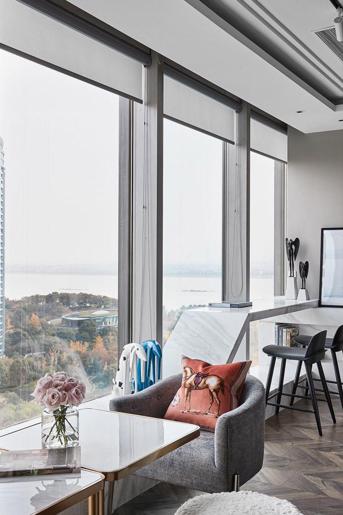 公寓式办公室交流区装修设计效果图