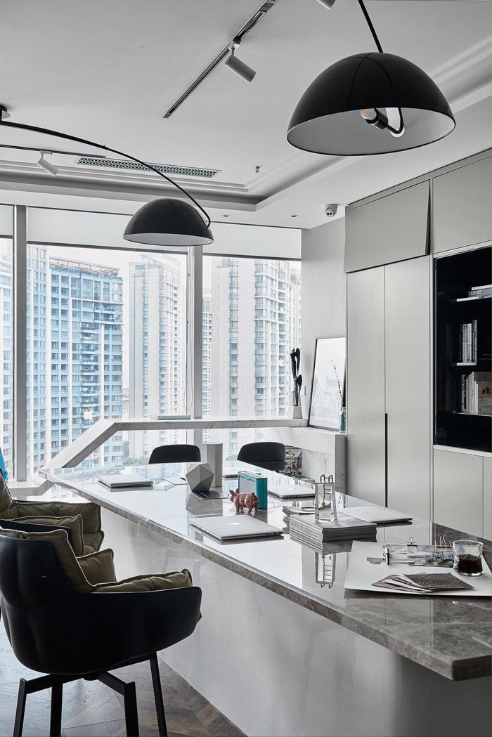 公寓式办公室办公区装修设计效果图