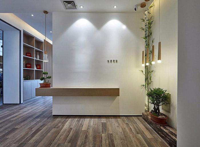 140平方新中式办公室装修效果图