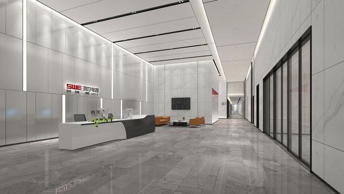 杭州鸿世电器办公楼大厅装修设计效果图