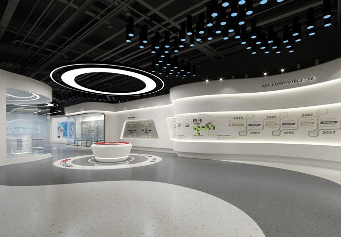 杭州鸿世电器办公楼展厅装修设计效果图