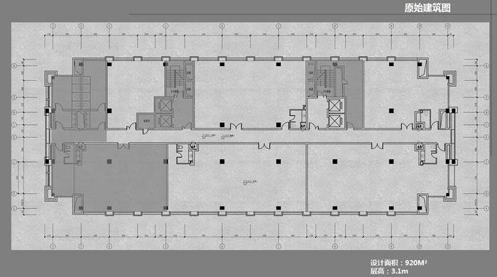 办公室原始建筑图