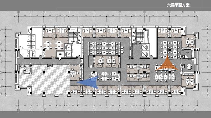 办公室六层平面图