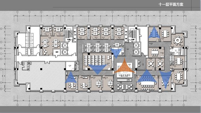 办公室十一层平面图