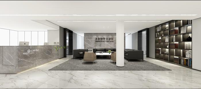 杭州律师事务所办公室前台装修设计效果图
