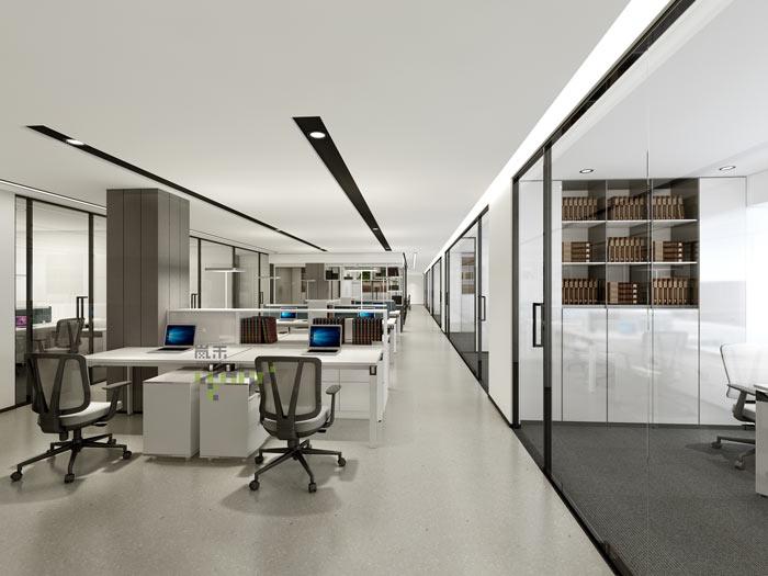 杭州律师事务所办公室办公区装修设计效果图