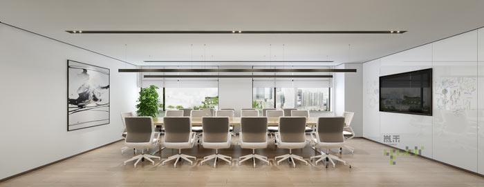 杭州律师事务所办公室会议室装修设计效果图