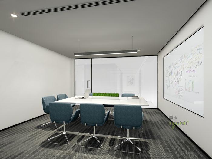 杭州律师事务所办公室汇报室装修设计效果图