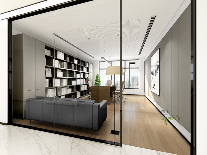 杭州律师事务所合伙人办公室装修设计效果图