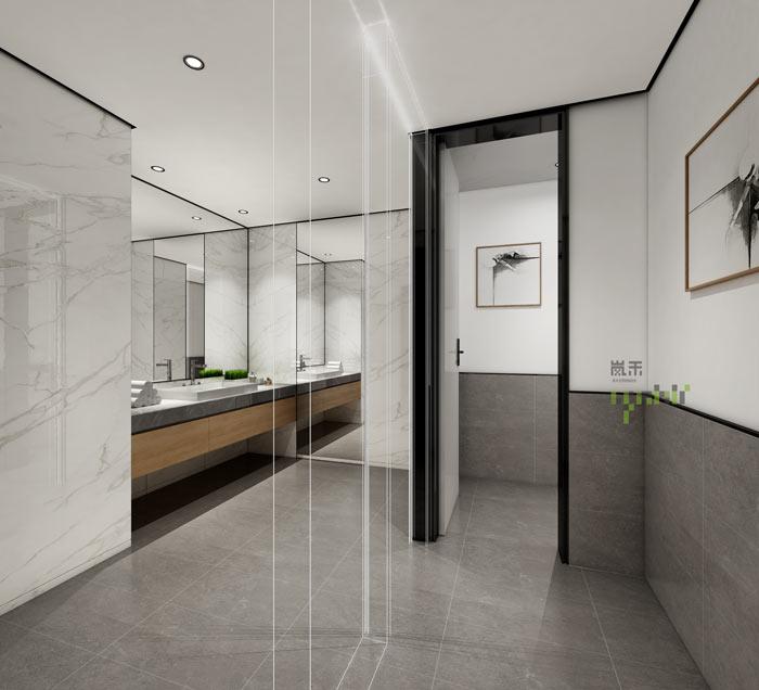 杭州律师事务所办公室卫生间装修设计效果图
