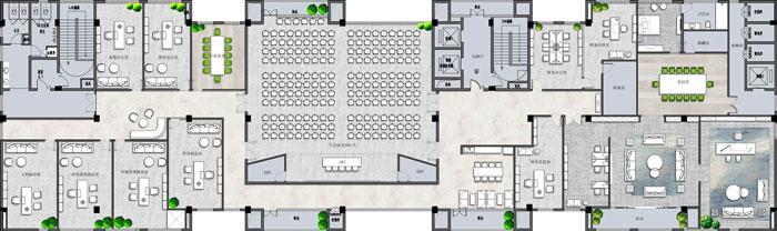 杭州环保公司办公楼9F平面图
