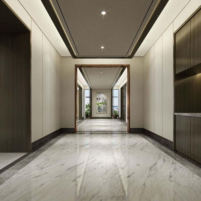 杭州控股公司办公室过道装修设计效果图