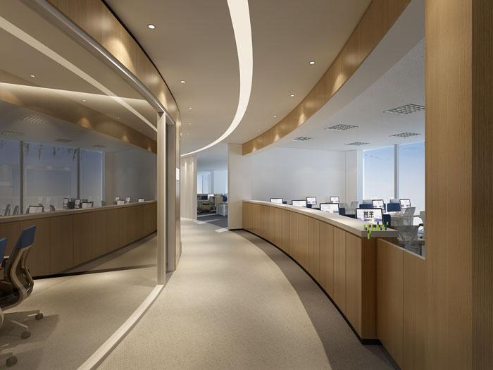 杭州过滤器材公司办公室走廊装修效果图