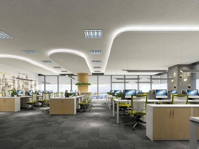杭州过滤器材公司办公室办公区装修效果图