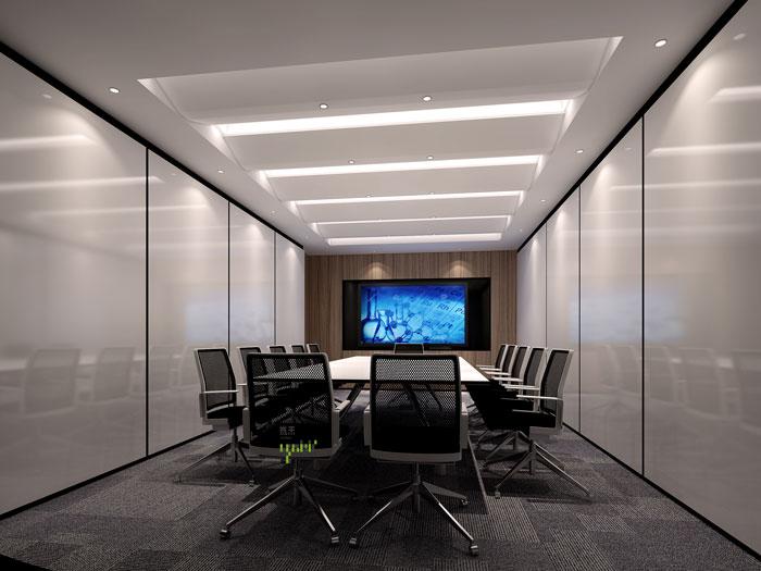 杭州过滤器材公司办公室会议室装修效果图