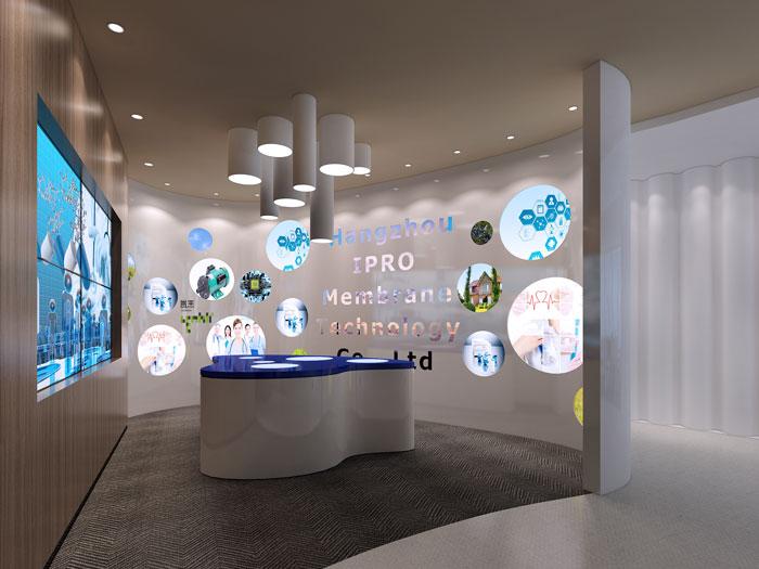 杭州过滤器材公司办公室展厅装修效果图