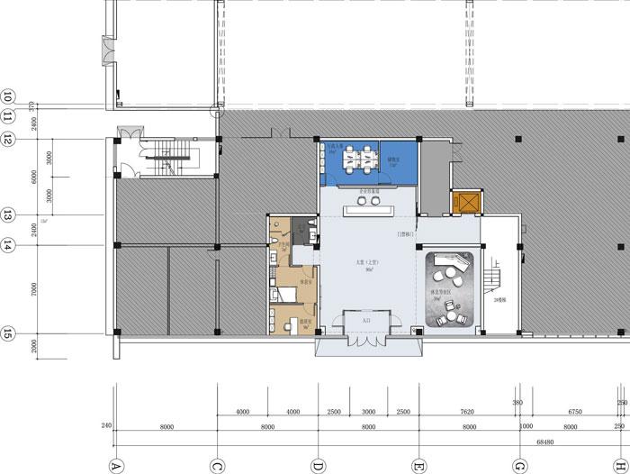 杭州智能厂房办公楼一层平面方案