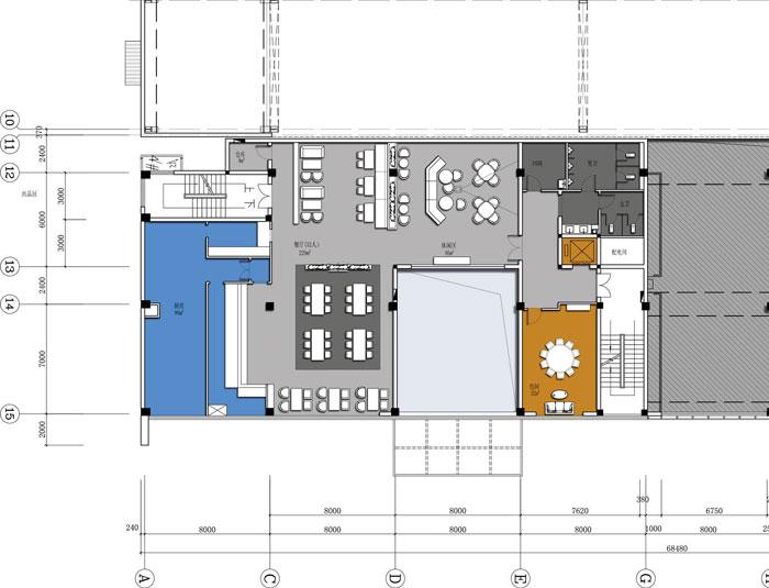 杭州智能厂房办公楼二层平面方案