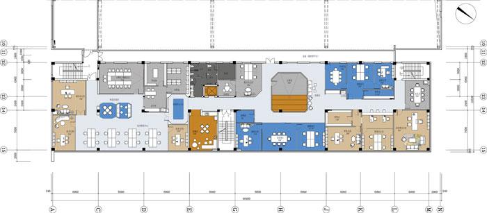 杭州智能厂房办公楼三层平面方案