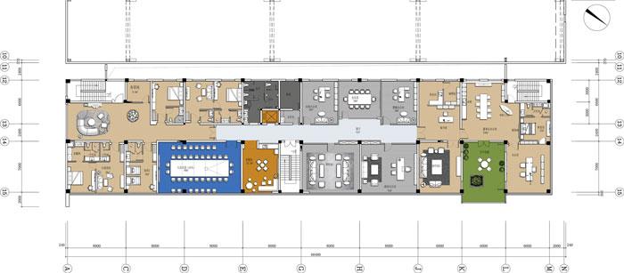 杭州智能厂房办公楼四层平面方案