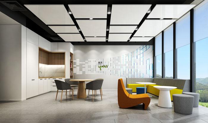 杭州智能厂房办公楼茶水间装修设计效果图