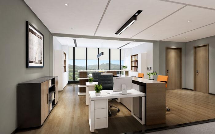 杭州智能厂房办公楼财务室装修设计效果图