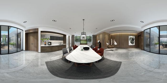 杭州智能厂房董事长室水吧区装修设计效果图
