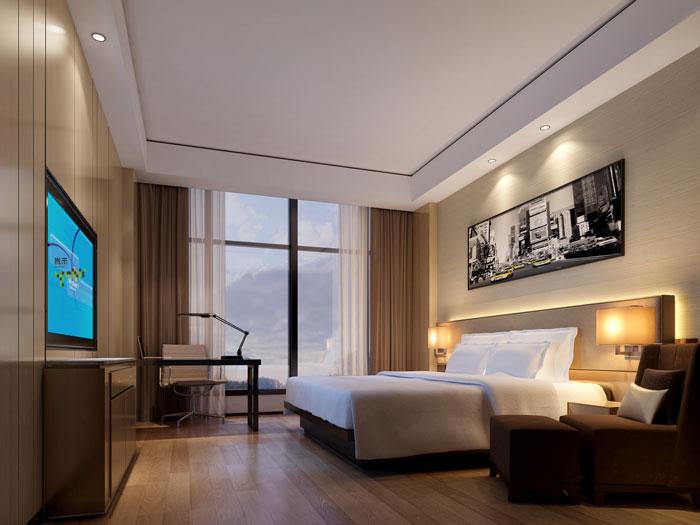 杭州智能厂房董事长休息室装修设计效果图