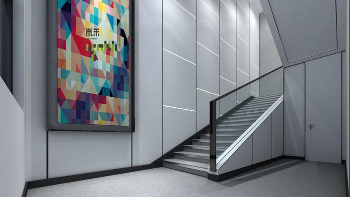 杭州厂家办公室楼梯装修设计效果图