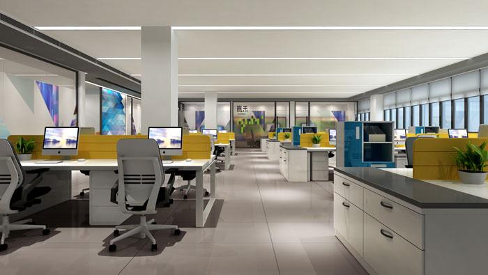 杭州厂家办公室办公区装修设计效果图