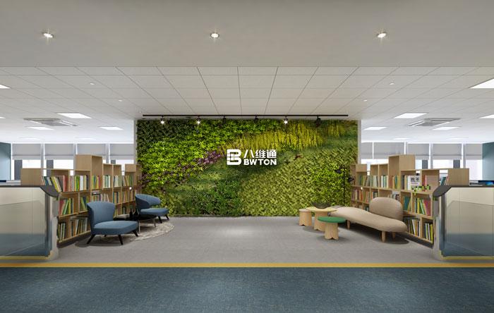 杭州科技办公室接待区装修设计效果图