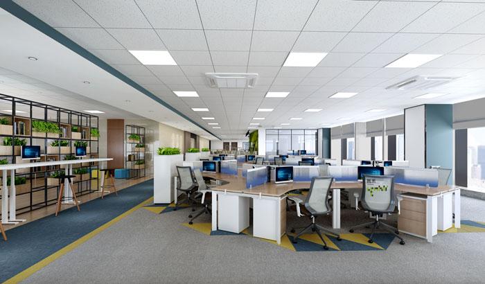 杭州科技办公室办公区装修设计效果图
