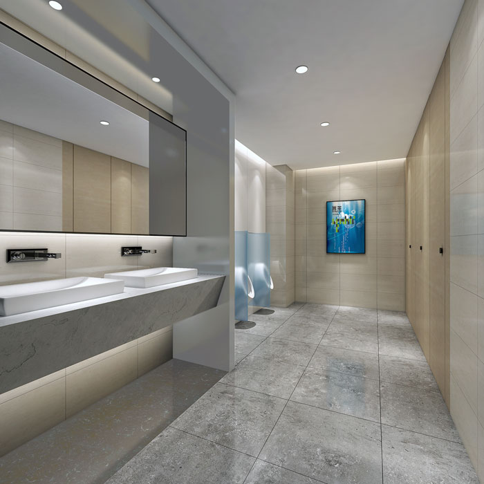 网络公司办公楼卫生间装修设计效果图