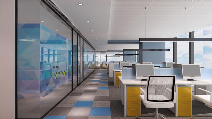 网络公司办公楼办公区装修设计效果图