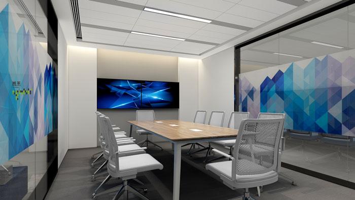 网络公司办公楼会议室装修设计效果图