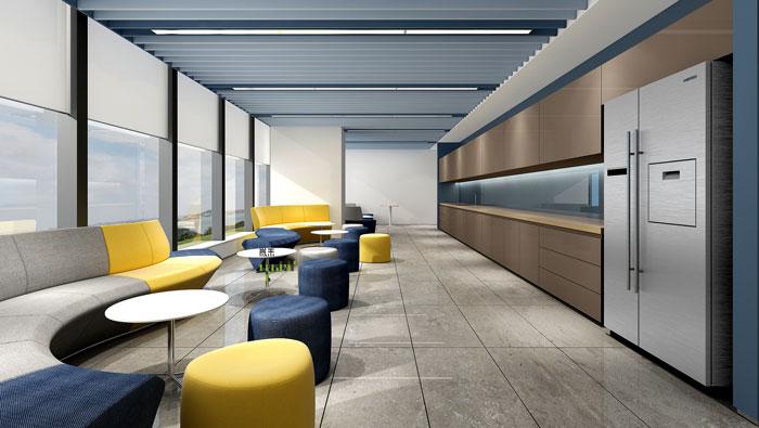 网络公司办公楼茶水间装修设计效果图