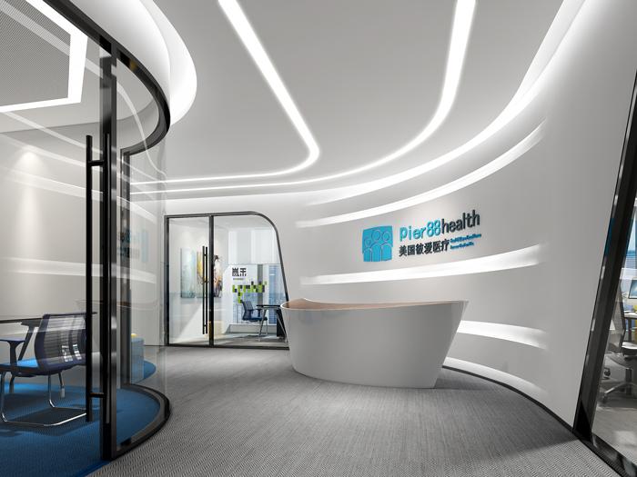 医疗公司办公室装修设计效果图