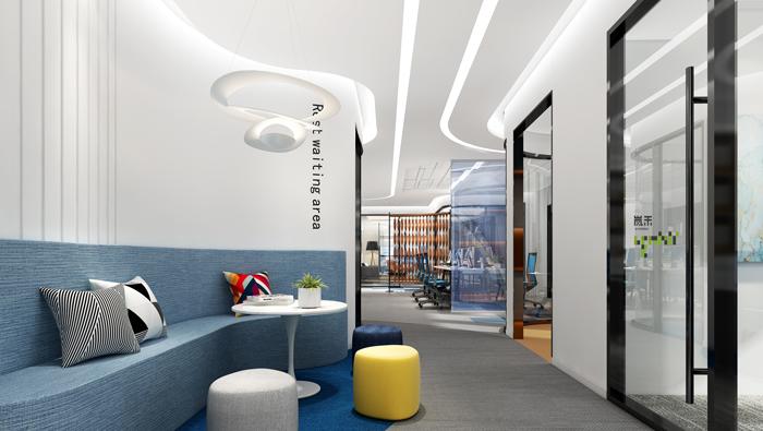 医疗公司办公室接待区装修设计效果图