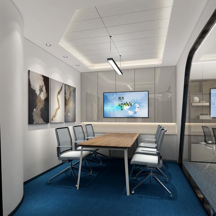 医疗公司办公室会议室装修设计效果图